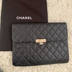 SOLD Chanel Blk envelope clutch